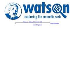 Watson Semantic Web Search