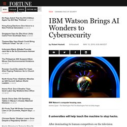 IBM Watson Brings AI Wonders to Cybersecurity