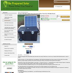 5,000 Watt Solar Generator With Solar Panels