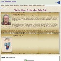 Watts Alan - El Libro Del Tabu Pdf
