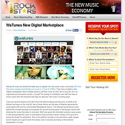 WaTunes New Digital Marketplace | Music Marketing - Gen-Y Rock S