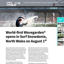 Wavegarden man-made surfing wave pools and lakes