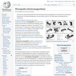 Waveguide (electromagnetism)