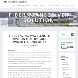 Wavelength Division Multiplexing (WDM) Technology