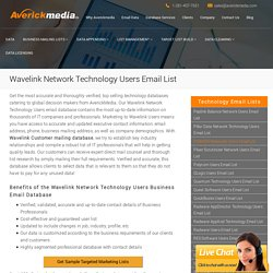 Wavelink Network Technology Users Email List