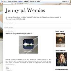 Jenny på Wendes: WavePad för ljudinspelningar på iPad
