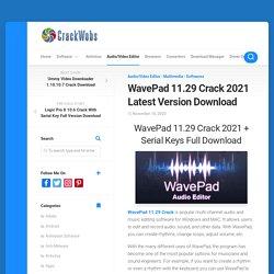 WavePad 11.29 Crack Latest Version Download 2021
