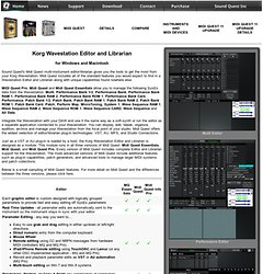 Sound Quest Inc. Korg Wavestation Editor/Librarian and Virtualizer