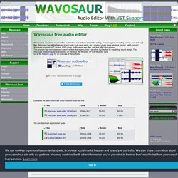 Wavosaur free audio editor with VST and ASIO support