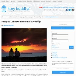 connecting in relationships