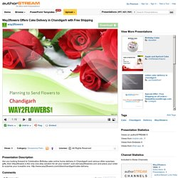 Way2flowers Offers Cake Delivery in Chandigarh With Free Shipping