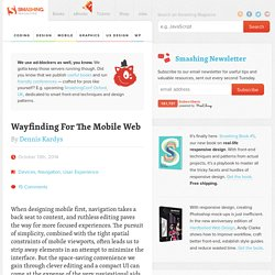 Wayfinding For The Mobile Web