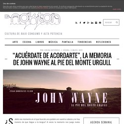 John Wayne al pie del monte Urgull
