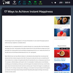 Achieving Instant Happiness