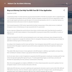 Ways an Attorney Can Help You With Your EB-5 Visa Application
