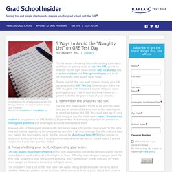 """5 Ways to Avoid the """"Naughty List"""" on GRE Test Day"""