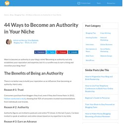 44 Ways to Become an Authority in Your Niche