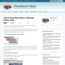 Top 10 Ways Best Ways to Manage Firefox Tabs