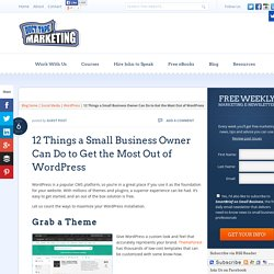 12 Ways To Get the Best out of Wordpress Websites