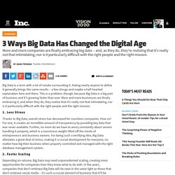3 Ways Big Data Has Changed The Digital Age