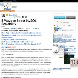 5 Ways to Boost MySQL Scalability | SQL Zone