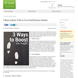 How to Boost Traffic to Your Small-Business Website