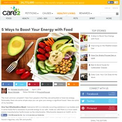 5 Ways To Boost Your Energy With Food
