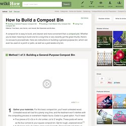 3 Ways to Build a Compost Bin