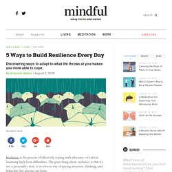 5 Ways to Build Resilience Every Day