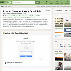 5 Ways to Clean out Your Gmail Inbox