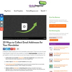 Email Marketing Blog for Small Business: 29 Ways to Collect Email Addresses for Your Business