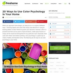 20 Ways to Use Color Psychology in Your Home