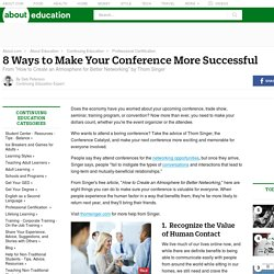 8 Ways to Make Your Conference More Successful