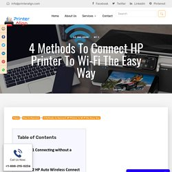 4 Ways to Connect HP Printer to Wi-Fi