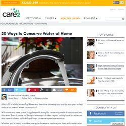 20 Ways To Conserve Water In The Home