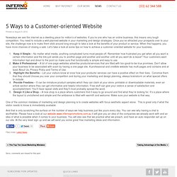 5 Ways to a Customer-oriented Website