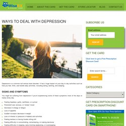 Ways To Deal With Depression - WiseRX