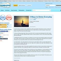 5 Ways to Detox Everyday