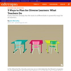 3 Ways to Plan for Diverse Learners: What Teachers Do