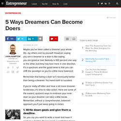 5 Ways Dreamers Can Become Doers