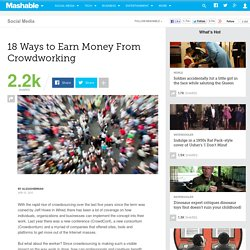 18 Ways to Earn Money From Crowdworking