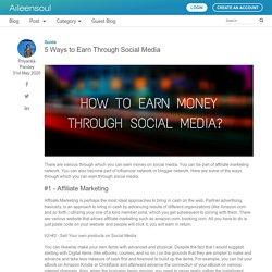 5 Ways to Earn Through Social Media