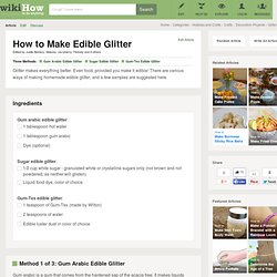 3 Ways to Make Edible Glitter