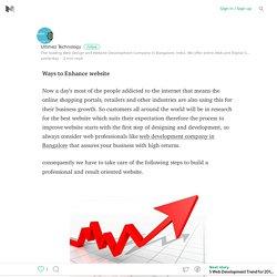 Ways to Enhance website