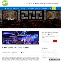 9 Ways to Executive Event Success