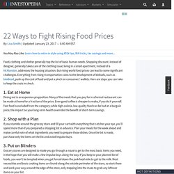 22 Ways to Fight Rising Food Prices