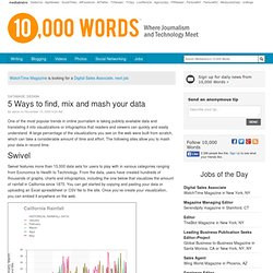 5 Ways to find, mix and mash your data :: 10,000 Words