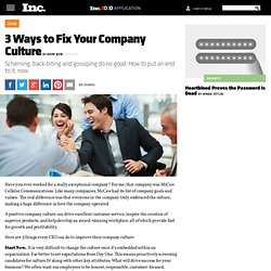 3 Ways to Fix Your Company Culture