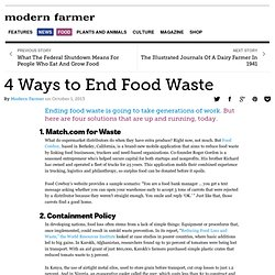 4 Ways to End Food Waste