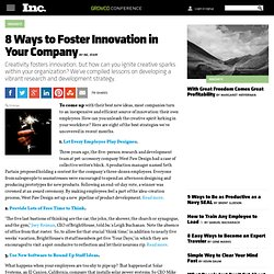 8 Ways to Foster Innovation in Your Company
